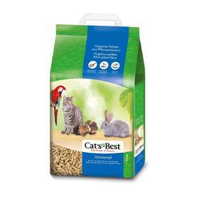 Наполнитель древесный впитывающий Cat's Best Universal, 10 л, 5,5 кг Ош