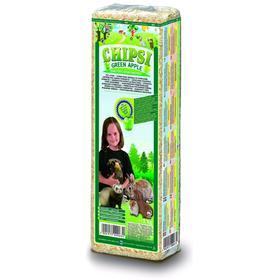 Опил древесный ароматизированный  Chipsi  Plus Green Apple для грызунов, яблоко, 15л, 1 кг