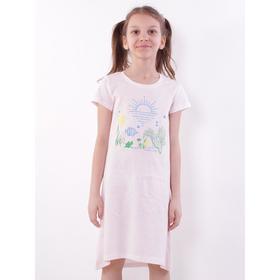 Сорочка для девочки, цвет светло-розовый, рост 134 см