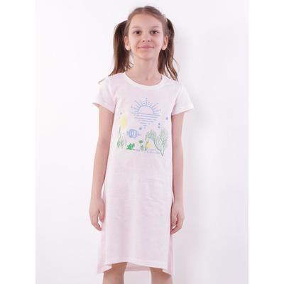 Сорочка для девочки, цвет светло-розовый, рост 134 см - Фото 1