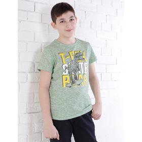 Футболка для мальчика, цвет зелёный, рост 134 см