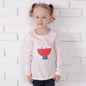 Лонгслив для девочки, цвет светло-розовый, рост 116 см