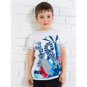 Футболка для мальчика, цвет белый, рост 92 см