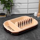 Сушилка для посуды с поддоном, 38×27×7 см, цвет МИКС - Фото 4