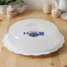 Тортница, цвет белый