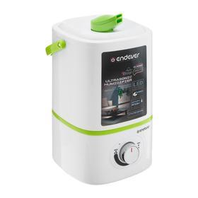 Увлажнитель воздуха Endever Oasis-173, ультразвуковой, 20 Вт, 3 л, 20 м2, бело-зелёный