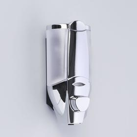 Диспенсер для антисептика/жидкого мыла механический, 350 мл, пластик, цвет хром Ош