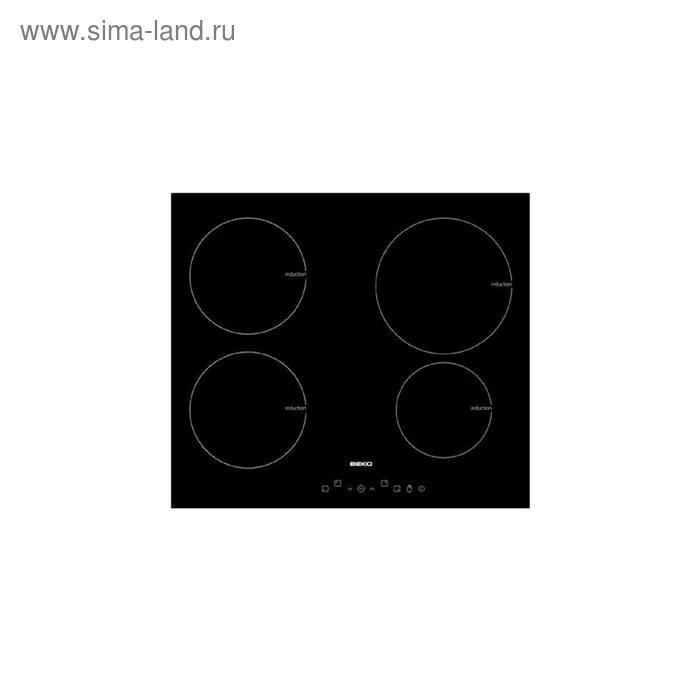 Варочная поверхность Beko HII 64400 AT, индукционная, 4 конфорки, сенсор, чёрная