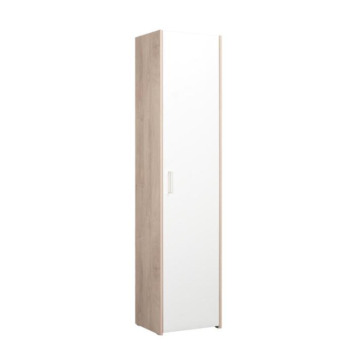 Пенал Альба 2 13.28, 452х370х1920, Дуб эндгрейн элегантный/Белый шагрень