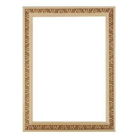 Рама для картин (зеркал) 21 х 30 х 3.0 см, дерево, липа, «Лепесток», горячее тиснение Ош