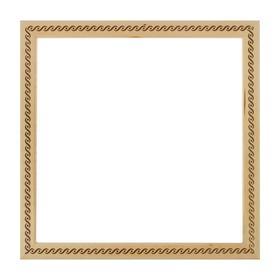 Рама для картин (зеркал) 35 х 35 х 3.0 см, дерево, липа, «Косичка», горячее тиснение Ош