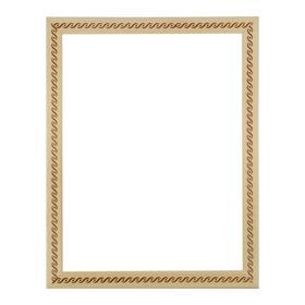 Рама для картин (зеркал) 30 х 40 х 3.0 см, дерево, липа, «Косичка», горячее тиснение Ош