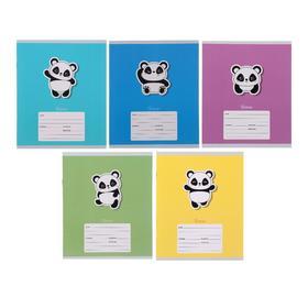"""Тетрадь 12 листов в линейку """"Панда"""", обложка мелованный картон, блок офсет"""
