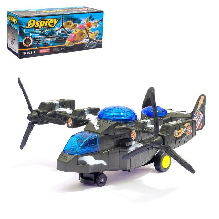 """Самолет """"Армия"""", работает от батареек, световые и звуковые эффекты"""
