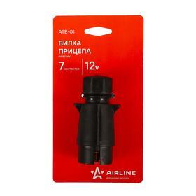 Вилка прицепа 7 контактов пластик, ATE-01 Ош