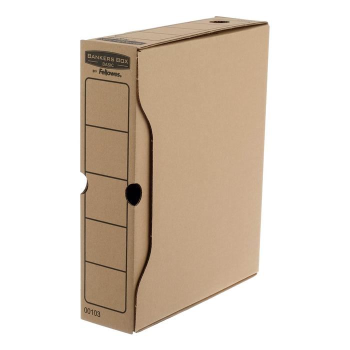 "Короб архивный Bankers Box ""Basic"" 80x260x312, гофрокартон"