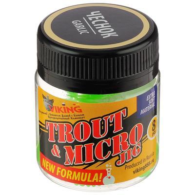 Силиконовая приманка VIKING «Личинка» 50 мм, цвет кислотный, жареный чеснок