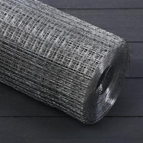 Сетка оцинкованная, сварная 1 × 10 м, ячейка 10 × 10 мм, d = 0,6 мм, металл Ош
