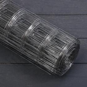 Сетка оцинкованная, сварная 0,5 × 10 м, ячейка 50 × 50 мм, d = 1 мм, металл Ош