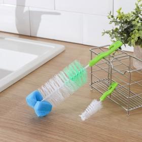 Набор ёршиков для посуды, 2 шт: 3×13 см, 6×24 см, цвет МИКС Ош