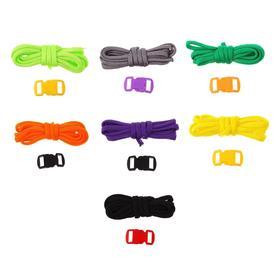 Набор плетения из тесьмы + 2 крепления, длина 1 шт 1,2 метра, цвета однотонный МИКС