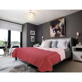 Покрывало ruby, размер 160 × 200 см, бордовый/розовый