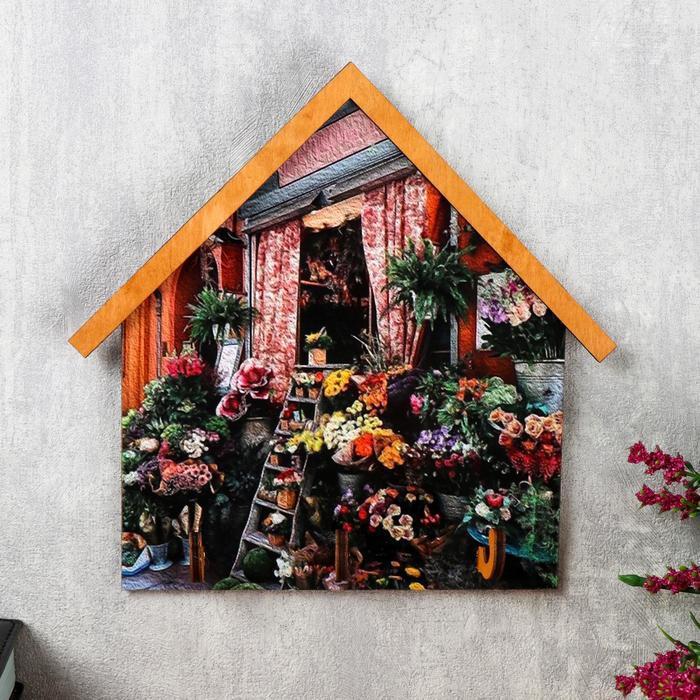 """Ключница открытая """"Цветы""""  19х19,5 см"""