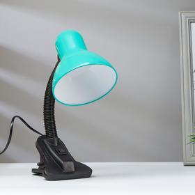 Лампа на прищепке светодиодная  8Вт LED 750Лм 14xSMD2835 шнур 1,5м зеленый