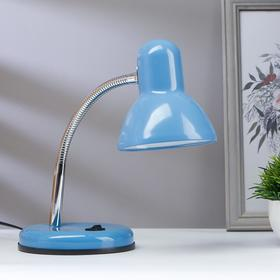 Лампа настольная светодиодная 8Вт LED 750Лм 14xSMD2835 шнур 1,5м синий
