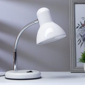 Лампа настольная на подставке 1х60Вт Е27 шнур 1,5м белый