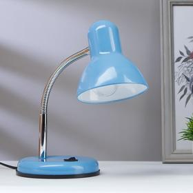 Лампа настольная на подставке 1х60Вт Е27 шнур 1,5м синий