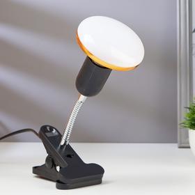 Лампа настольная светодиодная на прищепке 1х12Вт Е27 LED 100Лм шнур 1.1м штанга 10см черный