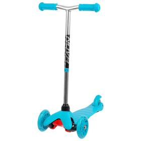 Самокат-кикборд детский Novatrack Disco-kids Start, световые колёса 120 х 24 / 76 х 24 мм, цвет голубой Ош