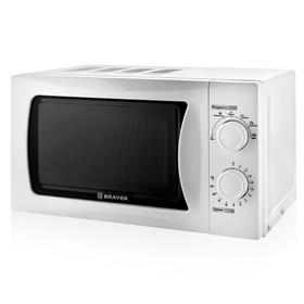 Микроволновая печь BRAYER BR2501, 700 Вт, 20 л, 6 режимов, белая