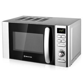 Микроволновая печь BRAYER BR2502, 700 Вт, 20 л, 6 режимов, 8 режимов, белая