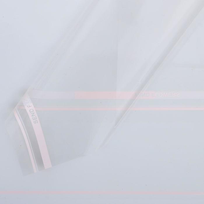 Пленка для цветов Прозрачная розовый, 0,58 х 0,58 м