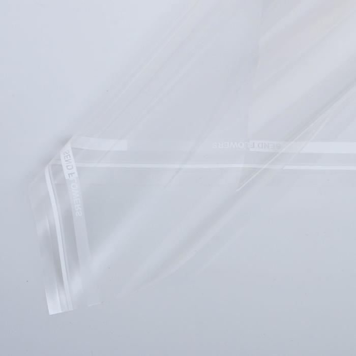 Пленка для цветов Прозрачная белый, 0,58 х 0,58 м