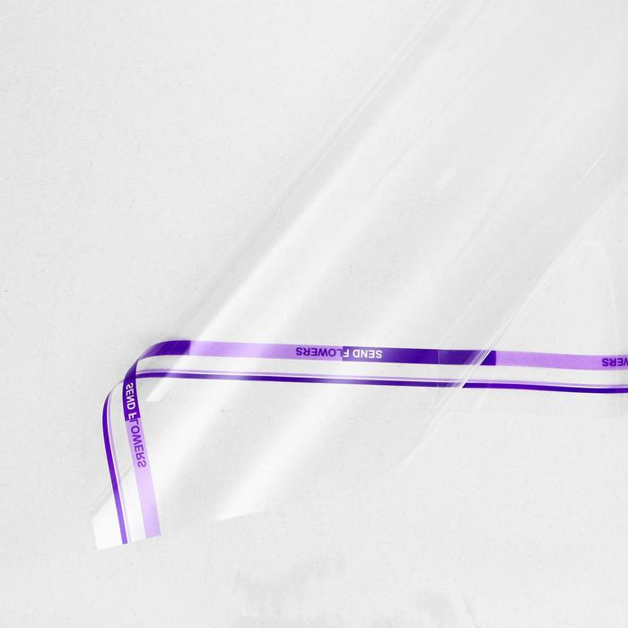 Пленка для цветов Прозрачная фиолетовый, 0,58 х 0,58 м