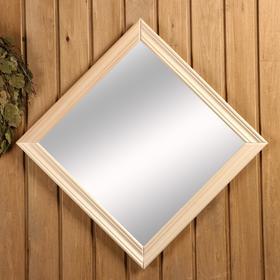Зеркало в баню в багете, 40×40см Ош