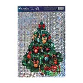 Интерьерная наклейка‒голография «Новогодняя елочка», 21 × 29,7 см Ош