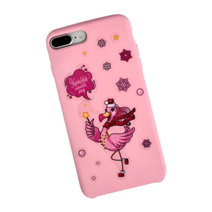 Наклейки на телефон Фламинго, 8 х 14 см