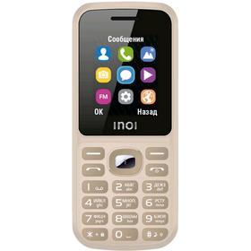 """Сотовый телефон INOI 105, 1,8"""", 64Мб, microSD, 2sim, Bt2,1, 600мАч, золотистый"""