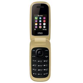 """Сотовый телефон INOI 108R, 1,8"""", 64Мб, microSD, 0,1Мп, 2sim, Bt2,1, 600мАч, золотистый"""