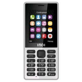 "Сотовый телефон INOI 244 Quattro, 2,4"", 32Мб, microSD, 4sim, Bt3,0, 800мАч, белый"