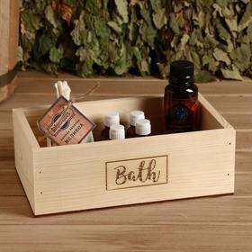 Ящик деревянный 'Bath', 24.5×14×8 см Ош