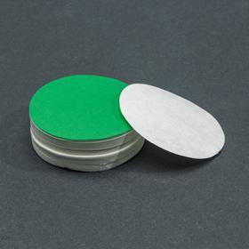 Фильтры d 55 мм, зелёная лента, марка ФММ, очень медленной фильтрации, набор 100 шт