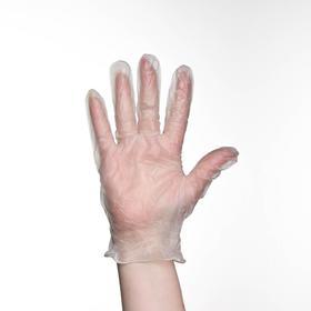 Перчатки хозяйственные виниловые, размер M, 100 шт/уп, цена за 1 шт Ош