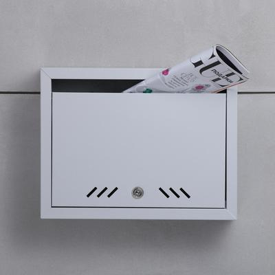 Ящик почтовый с замком, горизонтальный «Маил», серый