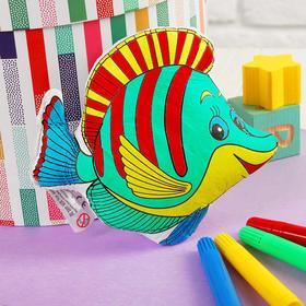 Игрушка-раскраска «Рыбка» (без маркеров ) в пакете Ош