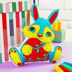 Игрушка-раскраска «Заяц» (без маркеров) в пакете Ош